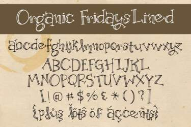 Organic Fridays Letters Lined