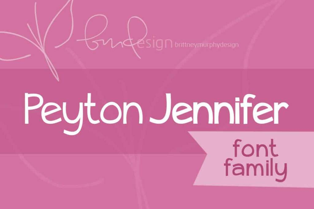 Peyton Jennifer Font Family