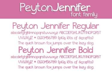 Peyton Jennifer Font Family Letters