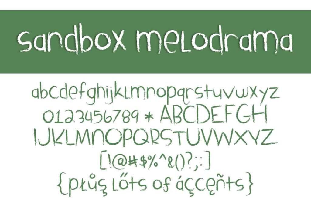 Sandbox Melodrama Letters