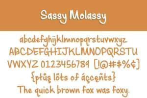 Sassy Molassy Letters