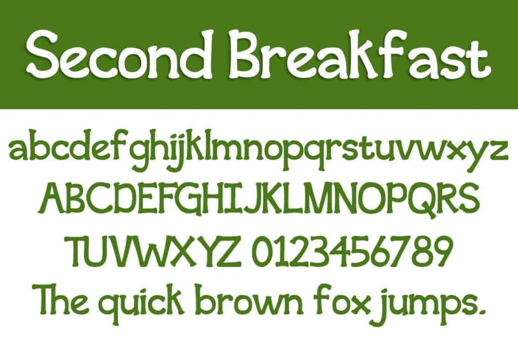 Second Breakfast Letters