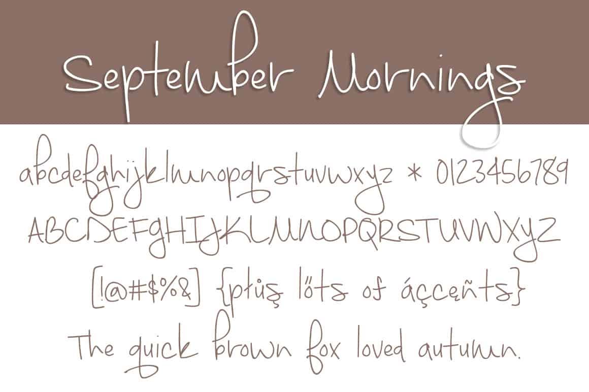 September Mornings Letters