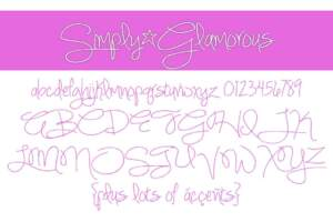 Simply Glamorous Letters