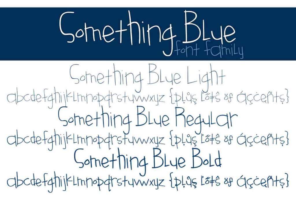 Something Blue Font Family Letters