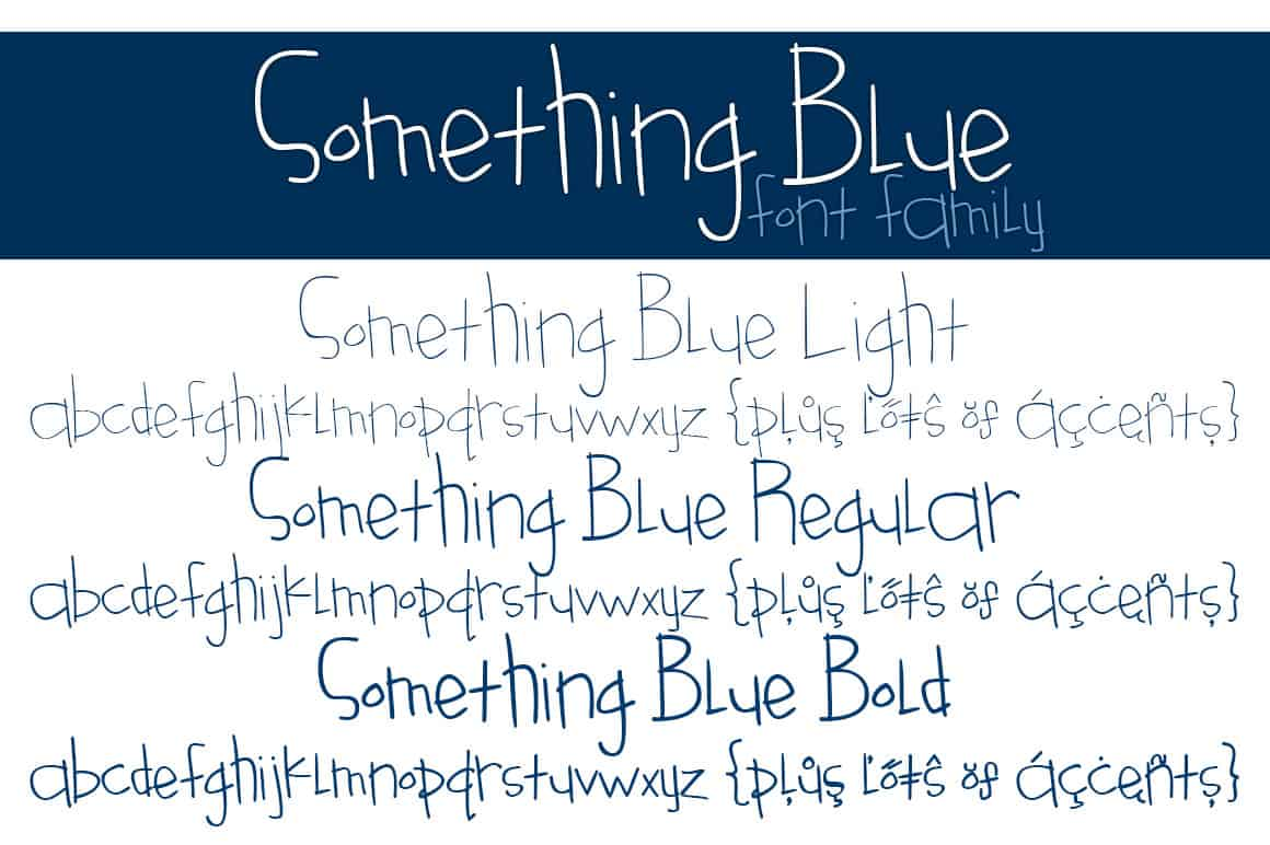 Something Blue Font Family Letters