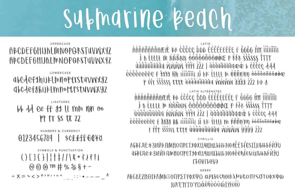 Submarine Beach Letters