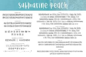 Submarine Beach Letters
