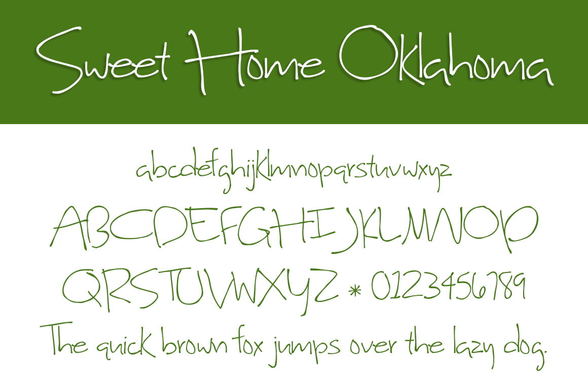 Sweet Home Oklahoma Letters