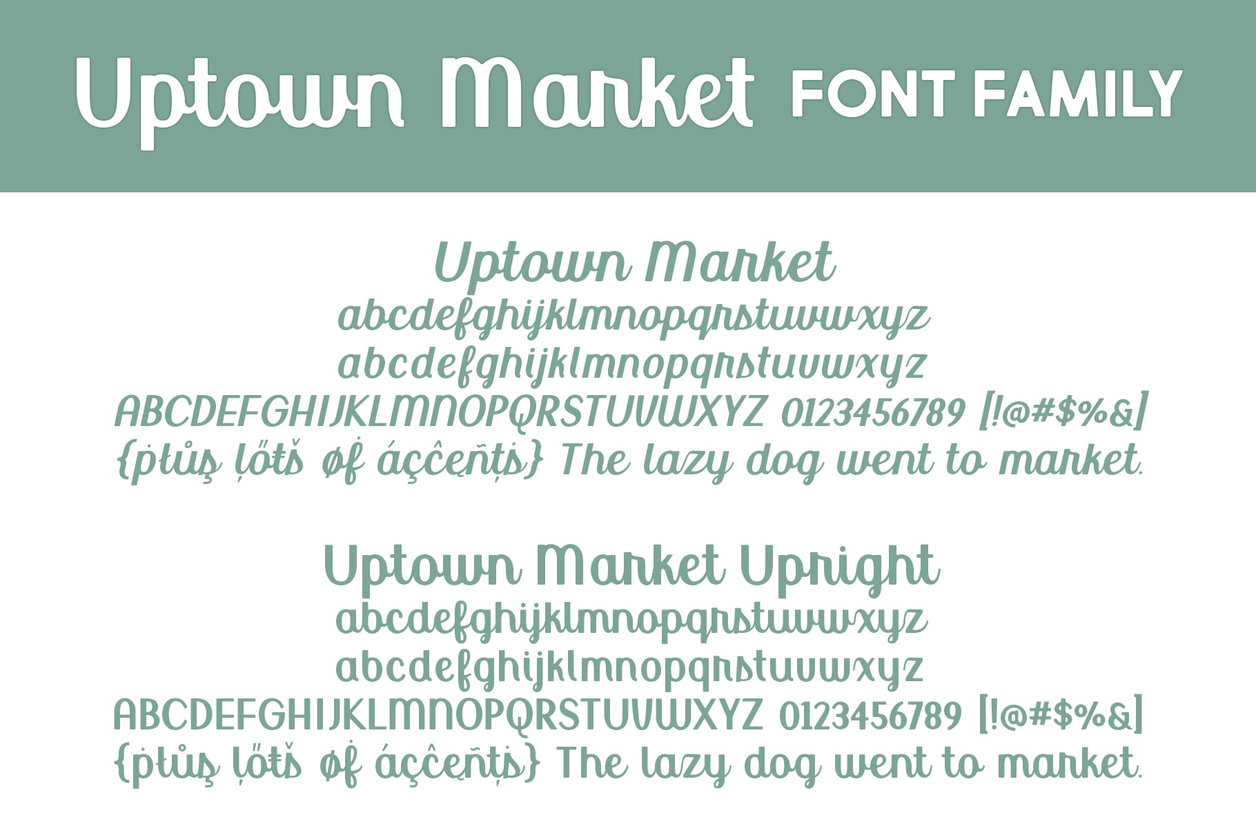 Uptown Market Ff Letters