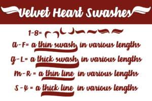 Velvet Heart Swashes