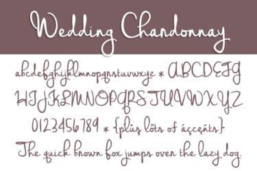 Wedding Chardonnay Letters