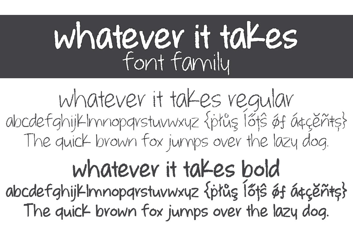 Whatever It Takes Letters Font Family