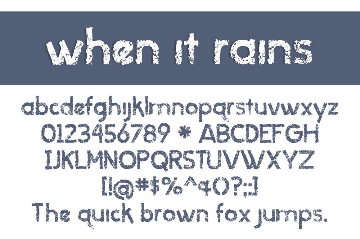 When It Rains Letters