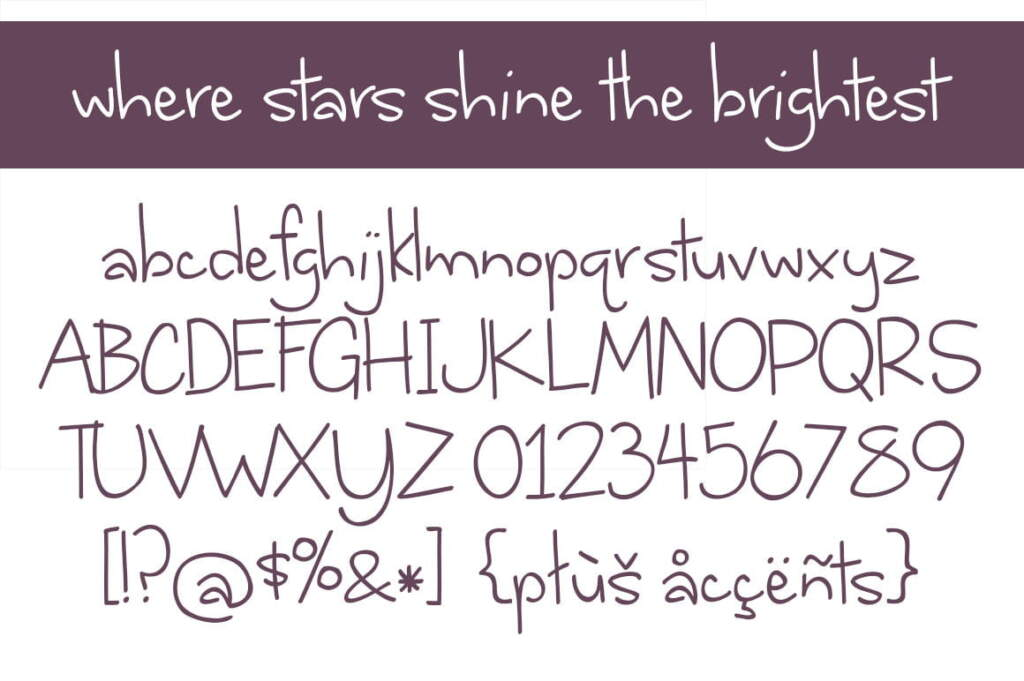 Where Stars Shine The Brightest Letters