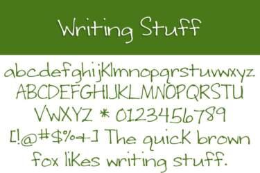 Writing Stuff Letters