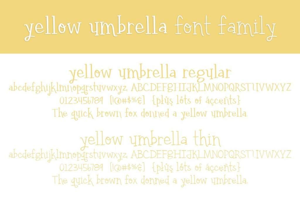 Yellow Umbrella Ff Letter