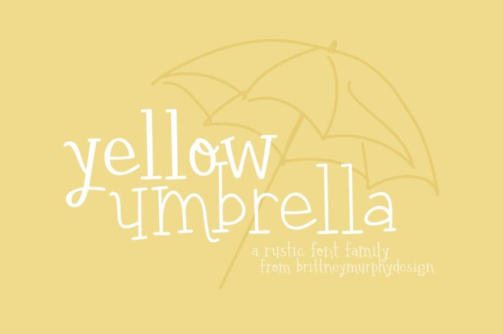 Yellow Umbrella Font Family