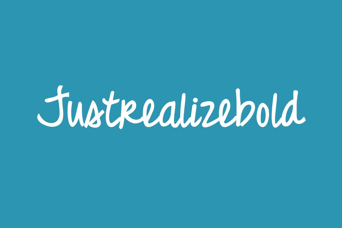 Justrealizebold Title Image