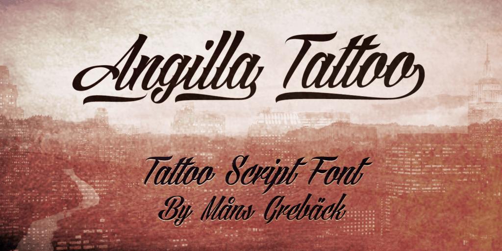 Angilla Tattoo Poster
