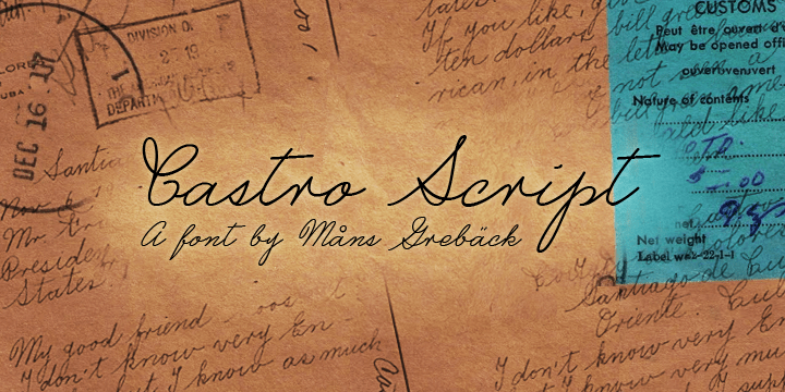 Castro Script Poster
