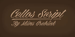 Cellos Script Poster