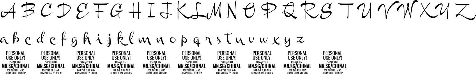 Chinalmedium Personal Use Character Map Image