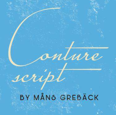 Conture Script Flag