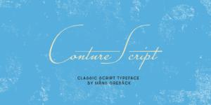 Conture Script Poster01