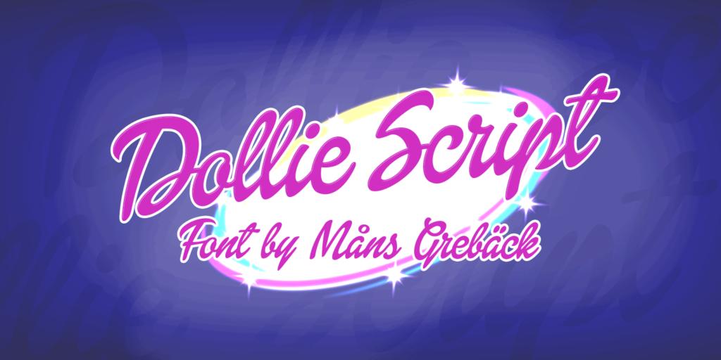 Dollie Script Poster