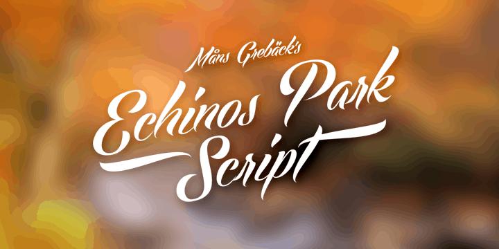 Echinos Park Script Poster Small