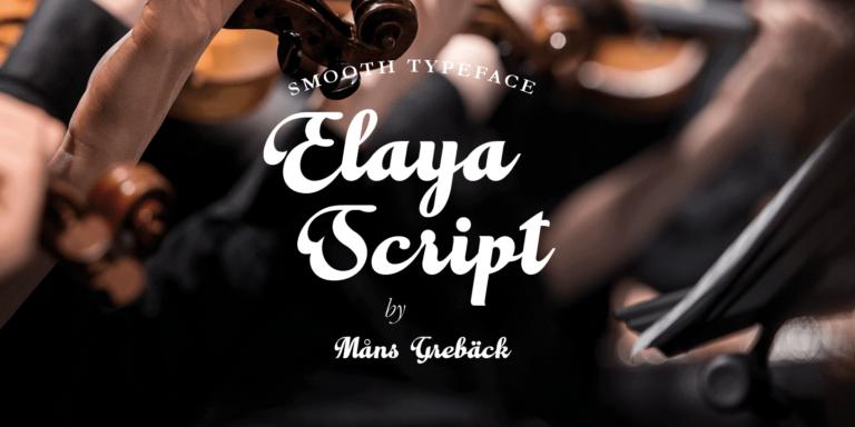 Elaya Script Poster01