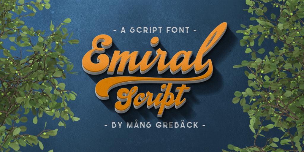 Emiral Script Poster01