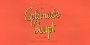 Esplanade Script Poster
