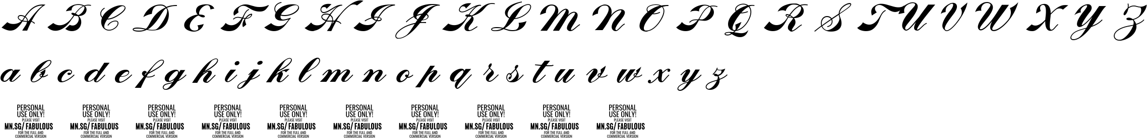 Fabulous Personal Use Character Map Image