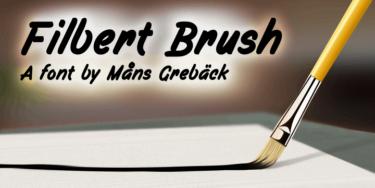 Filbert Brush Poster