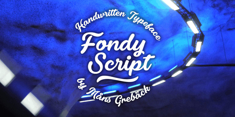 Fondy Script Poster01