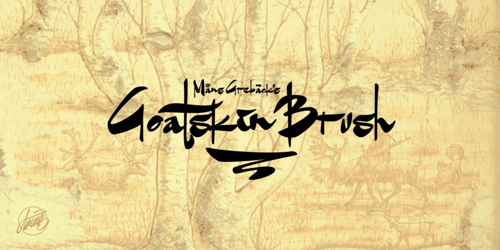 Goatskin Brush Poster