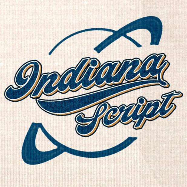 Indiana Script Flag