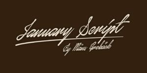 January Script Poster