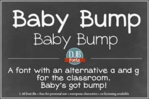 Djbfonts Babybump3a
