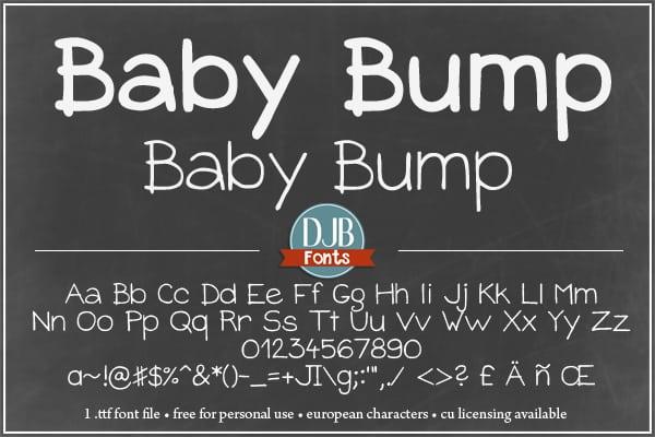 Djbfonts Babybump4a