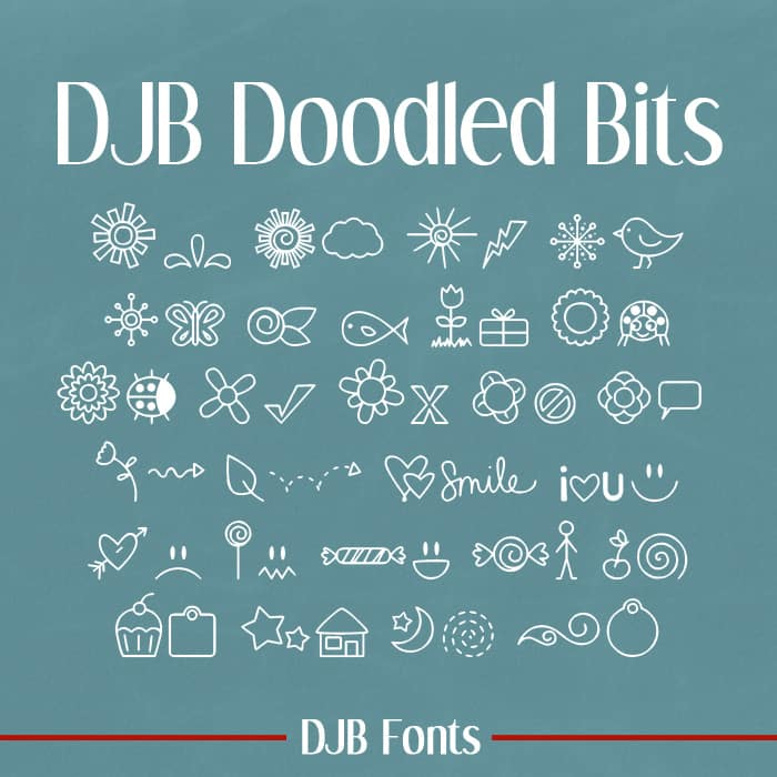 Djbfonts Doodled Bits