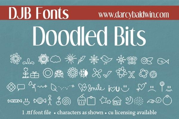Djbfonts Doodled Bits4