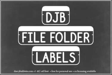 Djbfonts Filefolderstrip1