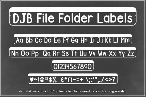 Djbfonts Filefolderstrip2