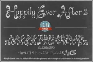 Djbfonts Happilyeverafter2 3