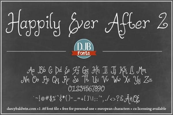 Djbfonts Happilyeverafter2 4