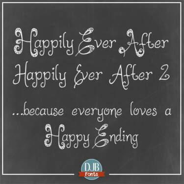 Djbfonts Happilyeverafter2 Sq