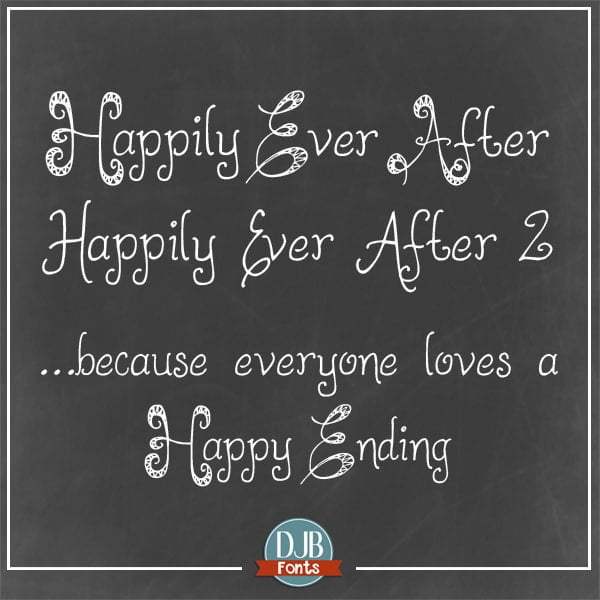 Djbfonts Happilyeverafter2 Sq